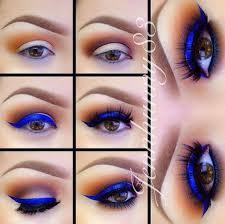 now you can check out the step by step tutorial of eye makeup which are shown