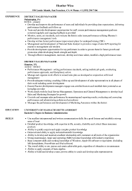 Administration Manager Resume Examples District Sales Sample Samples