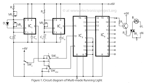 multi mode running light electronics project rh electronicsproject org led grow light schematic led tail light