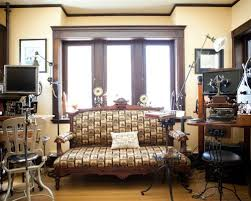 steampunk office. Example Of An Eclectic Home Office Design In Boston Steampunk O