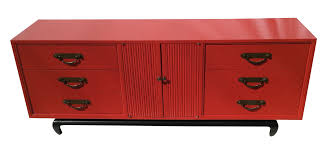 Asian Dresser american of martinsville vintage asian red dresser chairish 1650 by guidejewelry.us