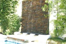 water wall fountains outdoor wall waterfall creative backyard water walls fountains orange county ca
