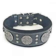 bestia maximus genuine leather dog collar