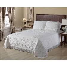 white chenille bedspread. Wonderful White Jovani Chenille Bedspread On White