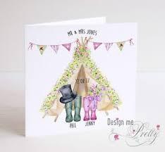 personalised wellies wedding card bride and groom teepee Bride And Groom Wedding Cards image is loading personalised wellies wedding card bride and groom teepee bride and groom wedding bands