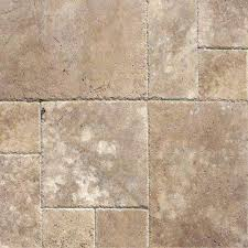 mediterranean walnut pattern honed unfilled chipped travertine floor and wall tile 5 kits