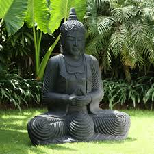 garden buddha statue. Wonderful Statue Praying Thai Buddha Stone Sculpture  Large Garden Statue For