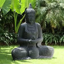 praying thai buddha stone sculpture large garden statue
