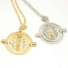 time turner necklace hermione granger rotating spins hourglass pendant necklace color silver gold