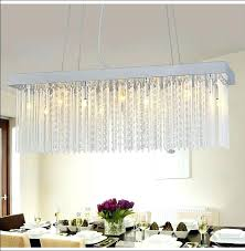 rectangular dining room light. Crystal Chandelier Dining Room Rectangle Over Table With Flower Centerpiece In . Rectangular Light I