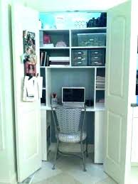 small office storage. Closet Desk Ideas Small Office Storage Diy O