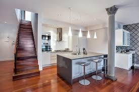 Contemporary Kitchen With Breakfast Bar Kitchen Island In New