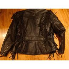harley davidson women s leather fringe jacket used