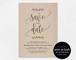 Print Your Own Save The Date Purchase This Listing To Intstanly Download Edit And Print