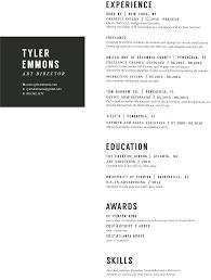 Tyler Emmons Art Director Resume