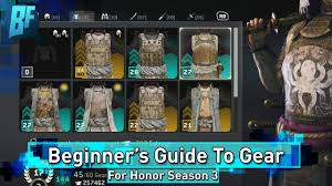 For Honor Gear Chart Season 3 For Honor Season 3 Beginners Guide Everything About Gear