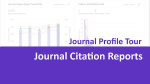 Journal Citation Reports Journal Profile Quick Tour
