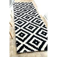 black and off white rug handmade abstract pixel trellis wool runner 2 chevron woven area project 62tm