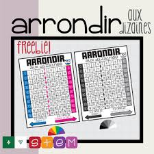 Freebie 10s Rounding Chart Anchor Chart Poster Printable French