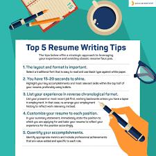 Tips On How To Write A Resume Tips For Resume Writing Tyrinova 17