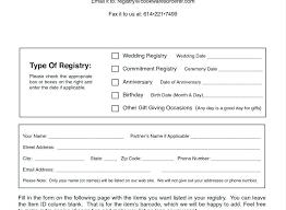 Printable Bridal Shower Gift List Template Gift Registry Template Printable Wedding Gift Card Template