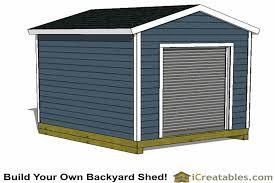 10x16 garage door shed plans