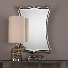 brushed nickel mirror. Verity Brushed Nickel Mirror 23\