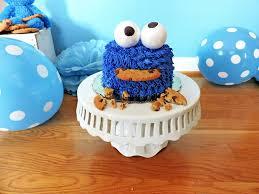Diy Cookie Monster Smash Cake Beautiful Eats Things