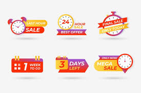 Countdown Roll Chart Holder Sales Countdown Banner Collection Vector Free Download