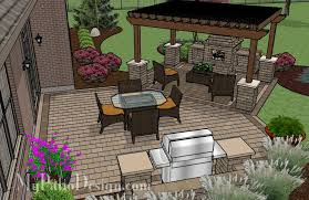 pergola covered fireplace patio binaire
