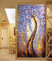 >the tree of life wallpaper knife painting wall mural custom 3d  free shipping the tree of life wallpaper knife painting wall mural custom 3d wallpaper bedroom living room hallway hotel art room decor printing on canvas