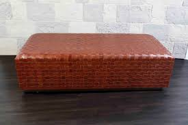 round woven coffee table ottoman dentro home athena leather phph h woven coffee table ottoman coffee