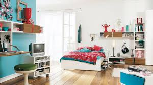 ... Enchanting Amazing Teen Rooms Design Your Own Bedroom Blue Red Table  Chair Tv: ...