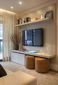 tv display ideas. Interesting Display Sala De Estar Pequena Com TV Embutida Em Painel Laqueada On Tv Display Ideas E