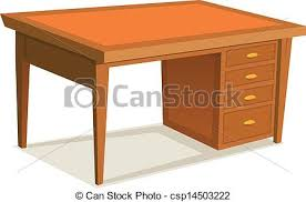 wood office table. Cartoon Office Desk - Csp14503222 Wood Table I