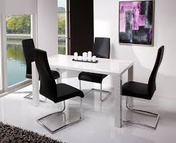 modern table sets coaster modern dining  piece white table