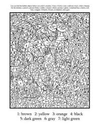 Small Picture Color by number coloring pages really cool one for each letter of
