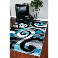 black and white area rugs chevron rug 8x10 striped modern abstract turquoise grey furniture