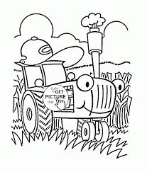 Small Picture Coloring Pages Funny Cartoon Tractor Coloring Page For Toddlers