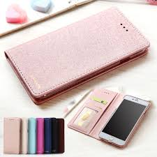 for apple iphone 7 case silk leather silicone flip cover iphone 7 plus case with
