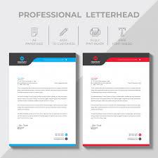 Professional Company Letterhead Modern Company Letterhead Vector Free Download