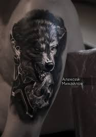 фото татуировки с волком