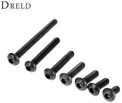 Shomy M3, 10mm : <b>50Pcs M3 Alloy</b> Steel Screws Hex Socket Round ...