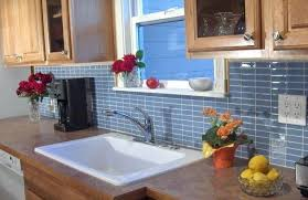 blue grey glass subway tile backsplash want bold colors install home improvement extraordinary gray til