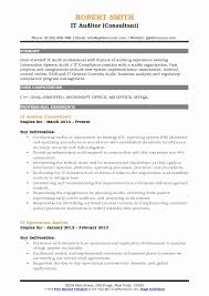 Goal Oriented Resume New It Auditor Resume Samples