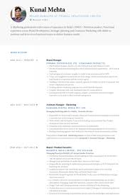Brand Manager Resume Template Best of Brand Manager Resume Samples VisualCV Resume Samples Database