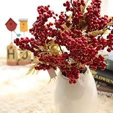 <b>1pc</b> Artificial Fruit <b>Christmas Berry</b> Flower Bean Red Nice Home ...
