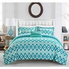 green bed sheets texture. Exellent Texture Chic Home Gabi 4Piece Reversible Ikat Aqua Duvet Cover Set In Green Bed Sheets Texture