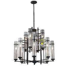 8 4 clear glass shades iron chandelier 7923