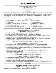 Technical Support Resume Sample Free Resume Example And Writing